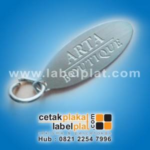 Label Plat Gantungan Kunci