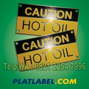 Label Plat Mesin